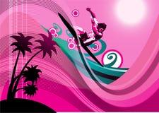 Fundo do surfista Imagem de Stock Royalty Free