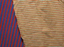 Fundo do tecido de algodão de multi cores da tela Imagens de Stock