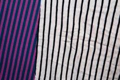 Fundo do tecido de algodão de multi cores da tela Fotos de Stock