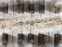 Fundo do teclado de piano Fotografia de Stock Royalty Free