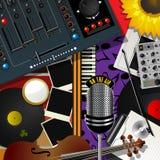 Música moderna do álbum de recortes Imagem de Stock