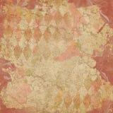 Fundo do teste padrão do arlequim do vintage - papel afligido 12x12 - Autumn Color Palette imagem de stock royalty free