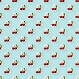 Fundo do teste padrão com Cherry Illustration Fotos de Stock Royalty Free