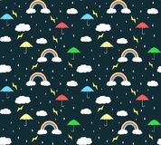 Fundo do teste padrão da estação das chuvas imagens de stock royalty free