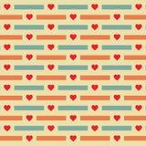 Fundo do teste padrão da forma do coração - ilustração do vetor Imagem de Stock Royalty Free