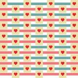Fundo do teste padrão da forma do coração - ilustração do vetor Imagens de Stock
