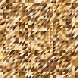 Fundo do teste padrão da listra da cor do ouro de Pixelated ilustração stock