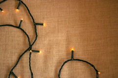 Fundo do teste padrão da luz de Natal Foto de Stock Royalty Free