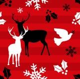 Fundo do teste padrão da rena do Natal ilustração do vetor