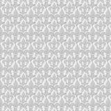 Fundo do teste padrão da repetição do francês da flor de lis no cinza imagens de stock