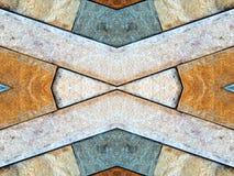 Fundo do teste padrão da telha da parede de pedra de Brown Imagem de Stock Royalty Free