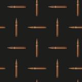 Fundo do teste padrão das balas do rifle ilustração do vetor