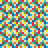 Fundo do teste padrão de caixas coloridas pequenas Imagens de Stock