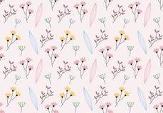 Fundo do teste padrão de flor foto de stock royalty free
