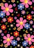 Fundo do teste padrão de flor Fotografia de Stock