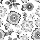 Fundo do teste padrão de flor. Ilustração do vetor Fotos de Stock Royalty Free