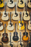 Fundo do teste padrão de guitarra clássicas Imagens de Stock