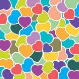 Fundo do teste padrão do coração Fundo colorido do coração O dia de Valentim do vetor Dia do casamento do vetor Coração do feriad Fotografia de Stock