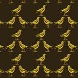 Fundo do teste padrão do corvo Imagens de Stock