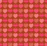 Fundo do teste padrão do dia de Valentim Imagens de Stock Royalty Free