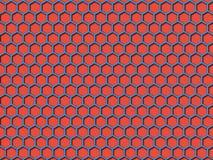 Fundo do teste padrão do favo de mel da cor vermelha Foto de Stock
