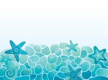 Fundo do teste padrão do mar Fotografia de Stock Royalty Free