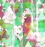 Fundo do teste padrão do triângulo Foto de Stock