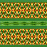 Fundo do teste padrão dos sarongues em Tailândia Fotografia de Stock Royalty Free
