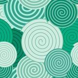 Fundo do teste padrão - espirais verdes Fotos de Stock Royalty Free