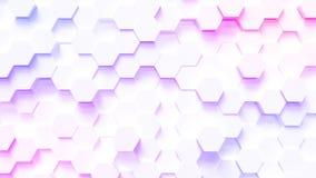Fundo do teste padrão do hexágono da tecnologia ilustração royalty free