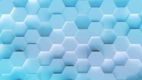 Fundo do teste padrão do hexágono da tecnologia ilustração do vetor
