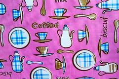 Fundo do teste padrão do rosa do café da manhã fotos de stock royalty free