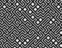Fundo do teste padrão do labirinto do vetor Fotos de Stock Royalty Free