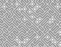Fundo do teste padrão do labirinto do vetor Foto de Stock