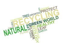 Fundo do texto da ecologia Fotografia de Stock Royalty Free