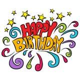Fundo do texto do feliz aniversario Imagens de Stock Royalty Free
