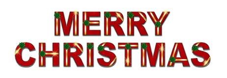 Fundo do texto do presente de época natalícia do Feliz Natal Foto de Stock