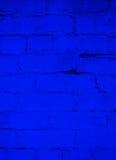Fundo do tijolo do azul de oceano profundo Imagens de Stock Royalty Free