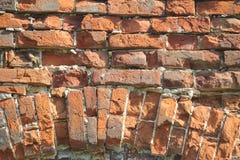 Fundo do tijolo vermelho foto de stock