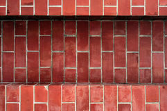 Fundo do tijolo vermelho, papel de parede do tijolo vermelho Fotografia de Stock