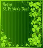 Fundo do trevo do verde do dia do St. Patrick ilustração do vetor