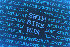 Fundo do Triathlon Foto de Stock Royalty Free