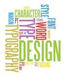 Fundo do Typography Imagem de Stock