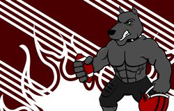 Fundo do uniforme do futebol americano do touro do músculo Imagem de Stock Royalty Free