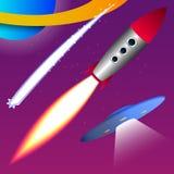 Fundo do universo dos desenhos animados Imagem de Stock Royalty Free