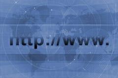 Fundo do URL do Web site Imagens de Stock