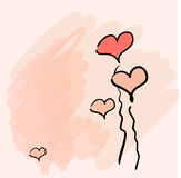 Fundo do Valentim Imagem de Stock