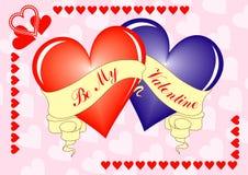 Fundo do Valentim, cartão, vetor Fotos de Stock
