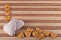 Fundo do Valentim com bolinhos foto de stock