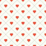 Fundo do Valentim com corações Foto de Stock